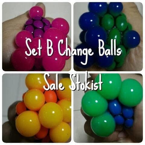 Foto Produk Squishy Color Change Mesh ninja anti stress Ball Bola anggur dari Sale Stockist