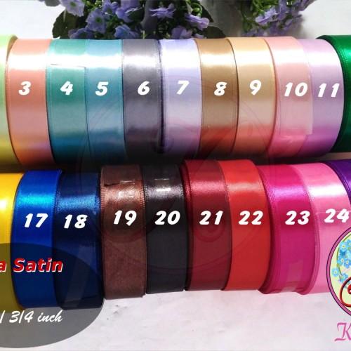 Foto Produk Pita Satin 3/4 Inch / 2 cm per roll Warna Kedua dari Kutique Craft