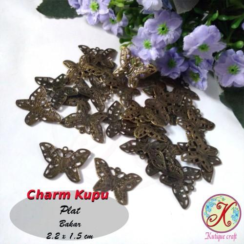 Foto Produk Charm Kupu Plat per lusin dari Kutique Craft
