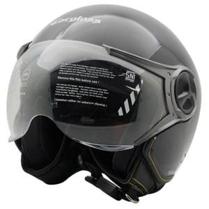 Foto Produk Helm Cargloss YR HC Ghotic Helm Half Face - Deep Black - L dari Helm Cargloss
