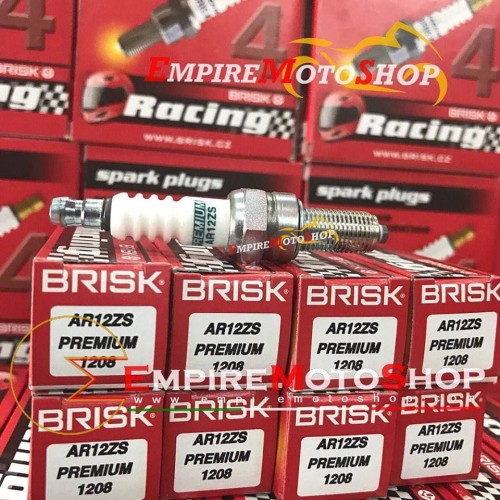 Foto Produk Busi Brisk AR12ZS Nmax Aerox Vario GSX CBR 150 PCX R15 FU AR 12 ZS dari Empiremotoshop