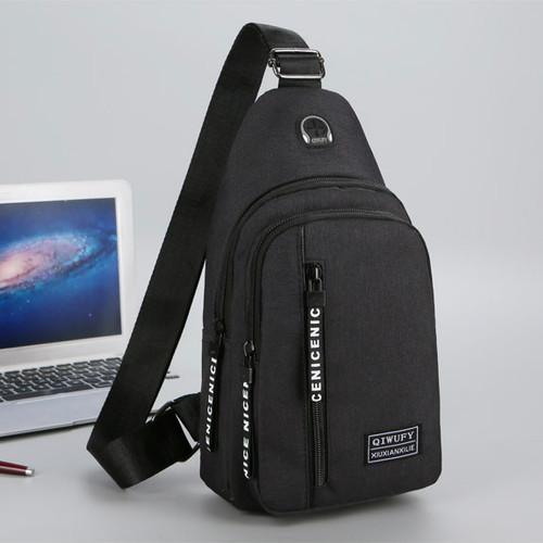 Foto Produk Tas Selempang Slempang Pria Sling Bag Tas - B299 - Hitam dari Raja OB
