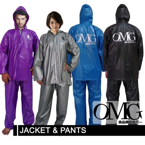 Foto Produk Jas Hujan OMG Set Jaket & Celana 100% Waterproof seperti GMA ASV Axio - Perak dari lbagstore