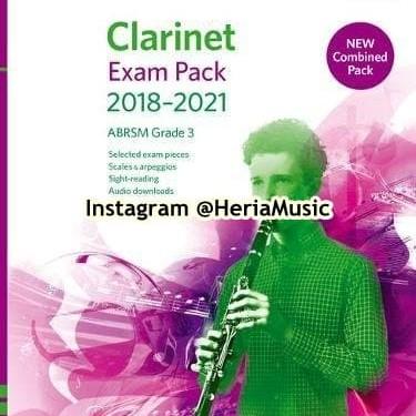 Foto Produk Clarinet Exam Pack 2018–2021 ABRSM Grade 3 dari HERIA MUSIC