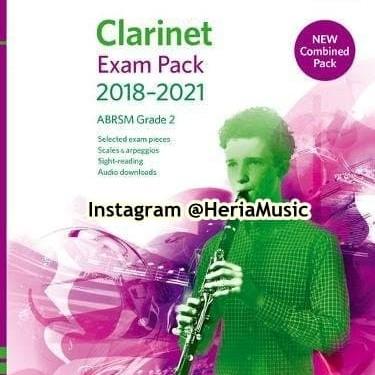 Foto Produk Clarinet Exam Pack 2018–2021 ABRSM Grade 2 dari HERIA MUSIC
