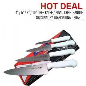 "Foto Produk Made in Brazil Tramontina Chef Knife 10"" / Pisau Dapur Tramontina 25CM dari MGM Online"