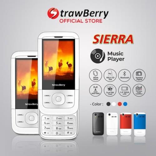 Foto Produk Strawberry – Sierra | Handphone Slide HP Murah Kamera Bluetooth dari handphone shopp