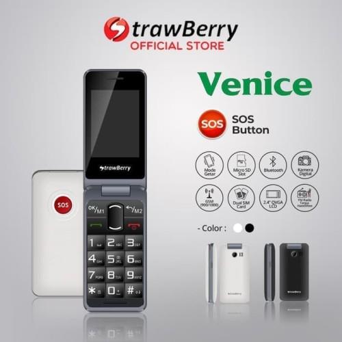 Foto Produk Strawberry Venice | Handphone Flip HP Murah Kamera Digital Bluetooth dari prayoga cell