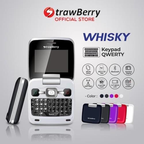 Foto Produk [FS] Strawberry Whisky | Handphone Flip HP Murah Bluetooth QWERTY dari prayoga cell