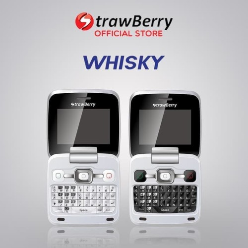 Foto Produk Strawberry Whisky | Handphone Flip HP Murah Kamera Bluetooth QWERTY dari heni cell shopp