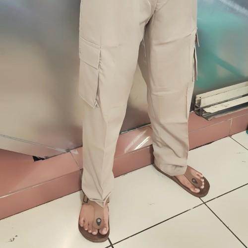 Foto Produk Celana Net TV Trans TV Celana Cargo Khaki Krem Celana PDH Panjang Kem dari Top Star