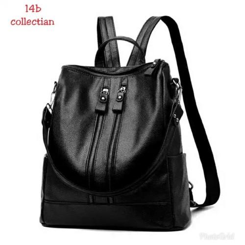 Foto Produk Backpack resleting dua semi Kulit Tas Ransel Wanita Murah Tas Ransel dari SUPERSTORE1