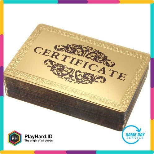 Foto Produk Kartu Remi Poker Gold Foil dari PlayHardID