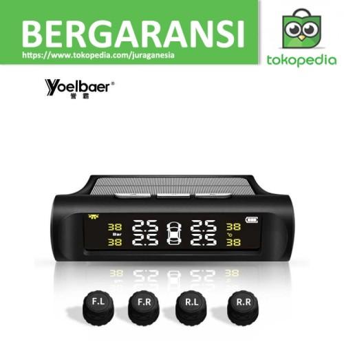 Foto Produk Yoelbaer Monitoring Tekanan Ban Mobil TPMS Solar Power - TP880 - Hitam dari JURAGANESIA