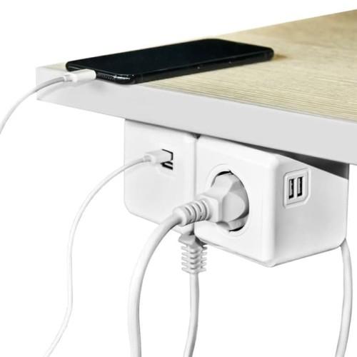 Foto Produk Stop Kontak 4 Elektric Plug + 2 USB Port Portable dari Apan Store
