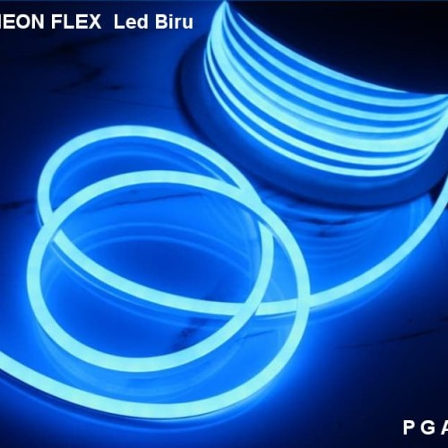 Foto Produk Lampu Neon Flex LED Selang Flexible Sign Strip Fleksibel Biru Blue dari Penjual Glodok Andalan