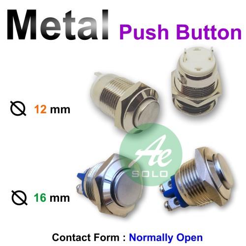 Foto Produk Metal Push Button Pushbutton Tombol Tekan Push ON 12mm 16mm 19mm 22mm - Dua Belas dari Anugrah Solo