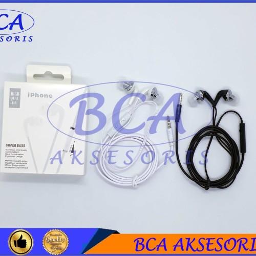 Foto Produk HANDSFREE IPHONE MEGA BASS+MIC HEADSET/ EARPHONE/ HEADPHONE dari BCA AKSESORIS