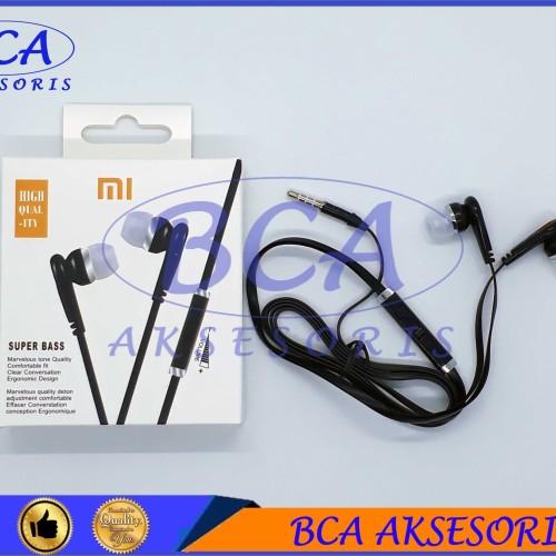 Foto Produk HANDSFREE XIOMI MEGA BASS+ MIC HEADSET/ EARPHONE/ HEADPHONE dari BCA AKSESORIS
