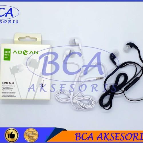 Foto Produk HANDSFREE ADVAN MEGA BASS+ MIC HEADSET/ EARPHONE/ HEADPHONE dari BCA AKSESORIS