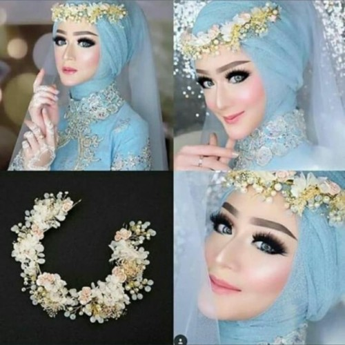 Foto Produk Headpiece Hairpiece Aksesoris Hiasan Rambut Pesta Flower Crown Mahkota dari fairystuffs