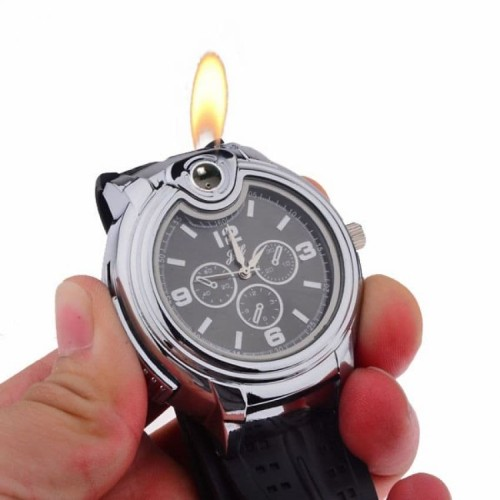 Foto Produk Jam Tangan Analog Pria Korek Api Gas Mancis Butane Lighter Watch JH 02 dari lbagstore