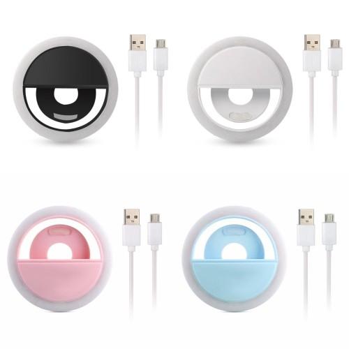 Foto Produk Ring Light Selfie LED Lampu selfie Bulat untuk kamera camera hp Flash - Putih dari GrosirAksesorisFashion