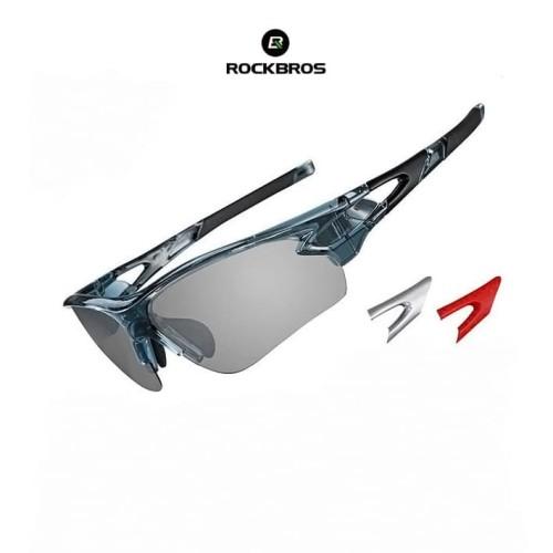 Foto Produk ROCKBROS 1007 Photochromic Polarized Sunglasses - kacamata Sepeda GRAY dari Rockbros Indonesia