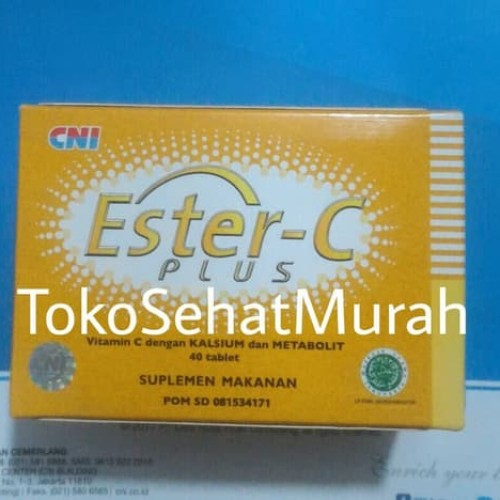 Foto Produk CNI Ester C Plus 1 box isi 40 tablet Vitamin C - Kalsium dari Afrizal Stores