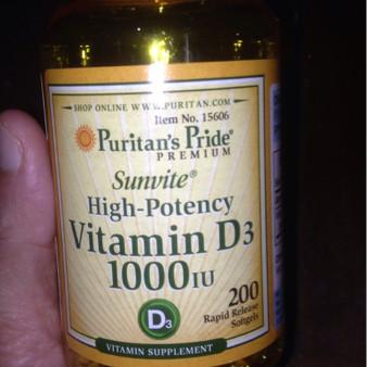Foto Produk PURITAN VITAMIN D3 1000 IU 200 Softgels dari Afrizal Stores
