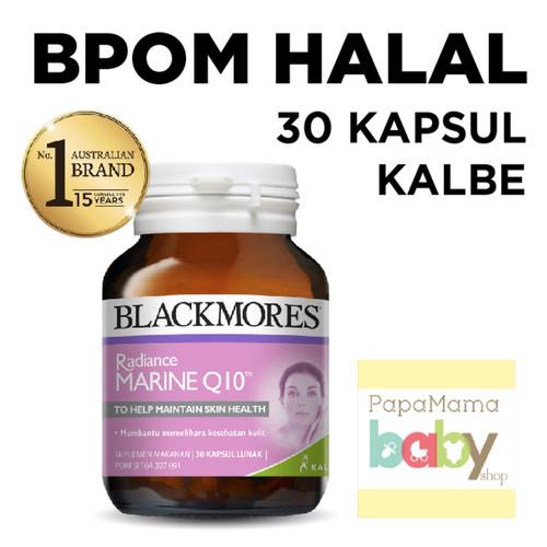Foto Produk Blackmores Radiance Marine Q10 -30 Kapsul BPOM HALAL KALBE Vitamin dari Kamilafardha Store