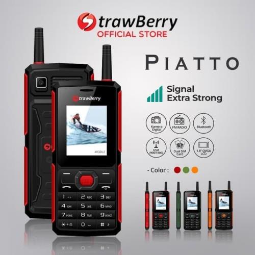 Foto Produk [FS] Strawberry – Piatto   Handphone Candybar HP Murah Kamera dari voucher cellular