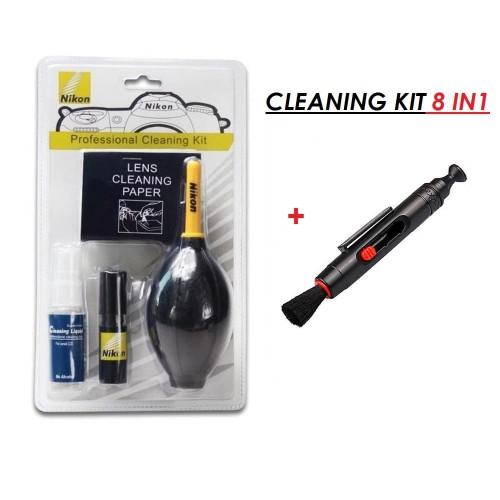 Foto Produk Cleaning Kit 8 In 1 Pro Lens Pen - SLR Kamera - Komputer - Nikon - Hitam dari Grosir Digital