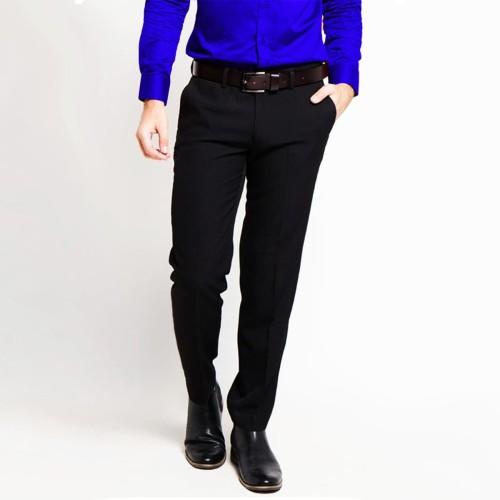 Foto Produk Celana formal pria - celana kerja REGULER size super black - Hitam dari VM VanMarvell