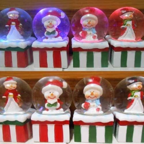 Foto Produk Lampu Kristal Snowman Salju dari Apan Store