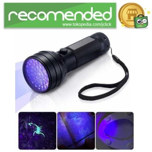 Foto Produk Senter LED Ultraviolet UV 400nm 51 LED - Hitam dari JClick