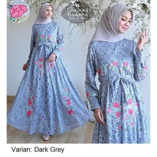 Foto Produk Baju Gamis Syari Muslim - MAXI BRUKAT NAWARA Murah dari Raja Obral 107