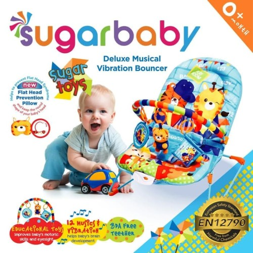 Foto Produk Bouncer Bayi Sugar Baby Deluxe Musical Vibration 1 Recline Sugar Toys dari Papamama Babyshop