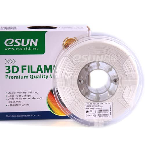 Foto Produk eSUN 3D Filament PLA+ 1.75mm White dari 3D Zaiku Surabaya