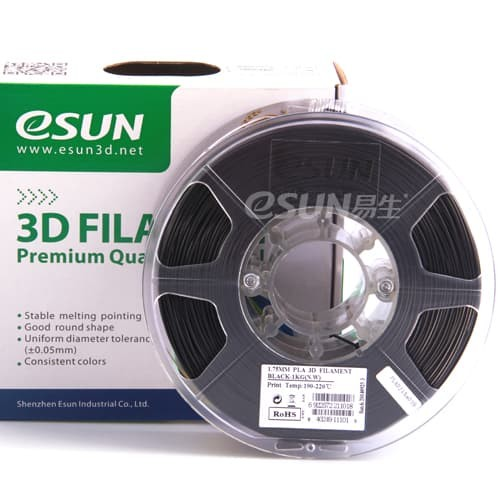 Foto Produk eSUN 3D Filament PLA+ 1.75mm Black dari 3D Zaiku Surabaya