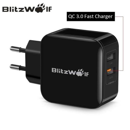 Foto Produk BlitzWolf BW-S6 QC3.0 2.4A 30W Dual USB Charger Fast Charger - Hitam dari Airo Indonesia