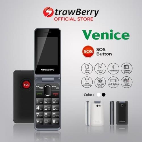 Foto Produk Strawberry Venice   Handphone Flip HP Murah Kamera Digital Bluetooth dari taurusshopp