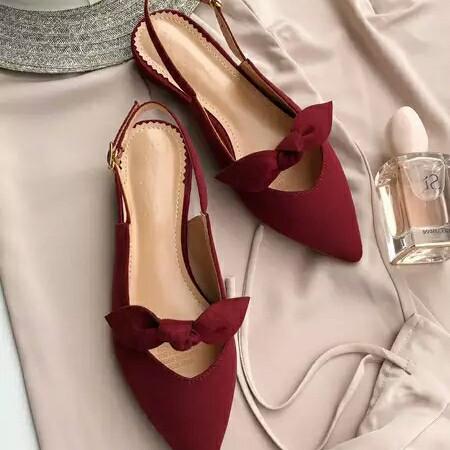 Foto Produk sepatu flatshoes wanita fs001 merah - Maroon, 36 dari pw_shop88
