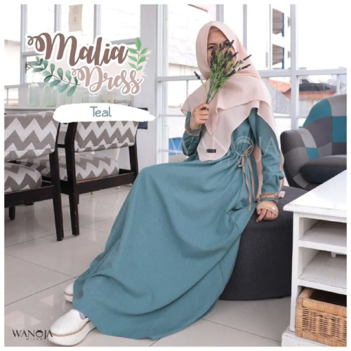 Foto Produk Gamis syari serut premium bagus Malia dress ori branded wanoja hijab dari Umee Shop Dusdusan