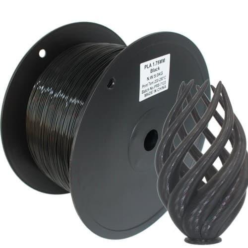 Foto Produk 3D Printer Filament PLA Berkualitas black dari 3D Zaiku Surabaya