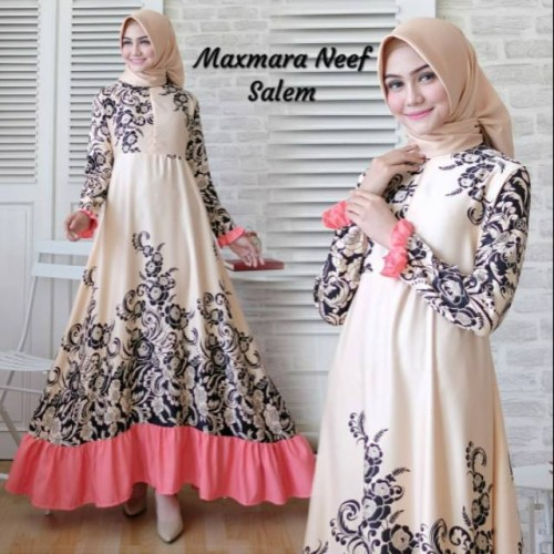 Foto Produk Baju Muslim Gamis Syari Pesta Wanita Maxmara Neef Terbaru dari BIKI PROJECT