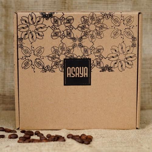 Foto Produk Paket Kopi Biji Bubuk Dampit Robusta dan Toraja Arabika 2x100G - BIJI UTUH BEANS dari Asaya Coffee