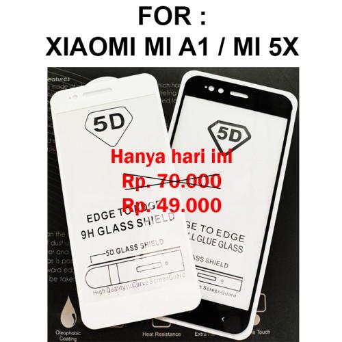 Foto Produk TEMPERED GLASS 5D Xiaomi Mi A1 MiA1 Mi 5X Mi 5X anti gores kaca 3D 4D dari Casing handphone murah