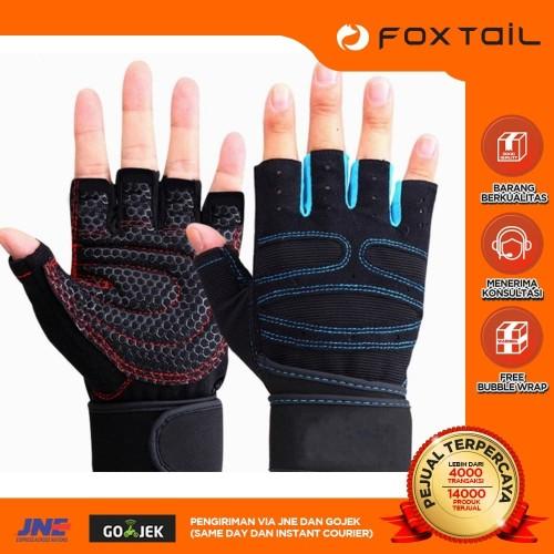 Foto Produk Glove heavyweight Fitness Lifting Gym sarung tangan anti sobek dari Foxtail Store