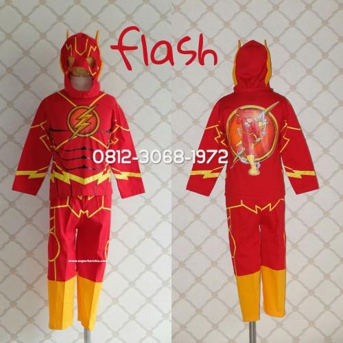 Foto Produk Baju Kaos Kostum Anak Karakter Superhero FLASH THE FLASH - Size 12 dari HEROVERSE